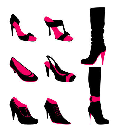 shoes vector: Vector illustration   of Women shoes Illustration