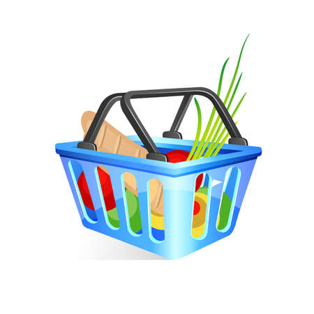 lunch box: Basket with food