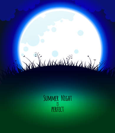Vector illustration  of Good night design