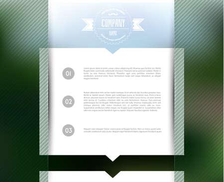 Vector illustration (eps 10) of Blurred web design template Vector
