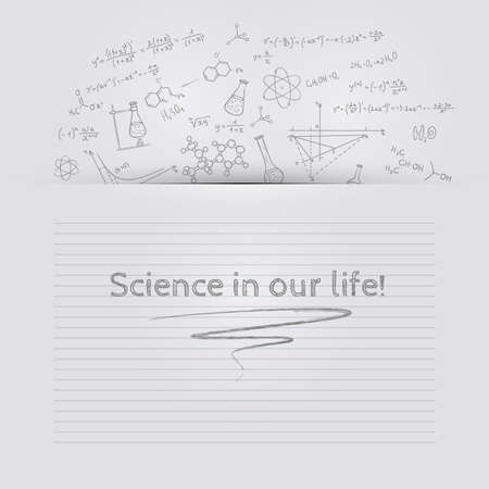 Vector illustration (eps 10) of Hand draw chemistry background Vector
