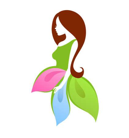 Vector illustration (eps 10) of Beautiful woman 일러스트