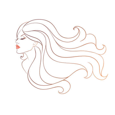 Vector illustration  eps 10  of Beautiful woman Vector