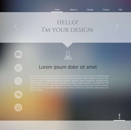 Vector illustration  eps 10  of Blurred web design template Vector