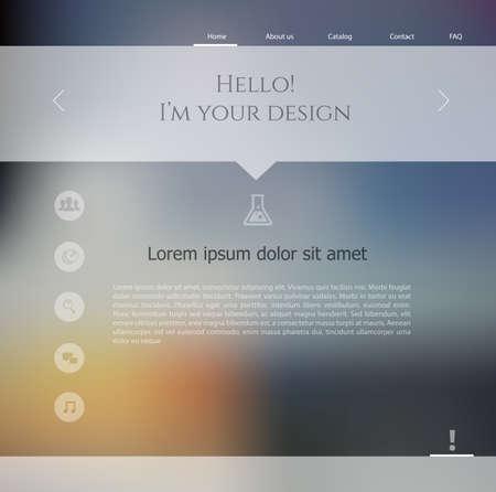 Vector illustration  eps 10  of Blurred web design template Vector