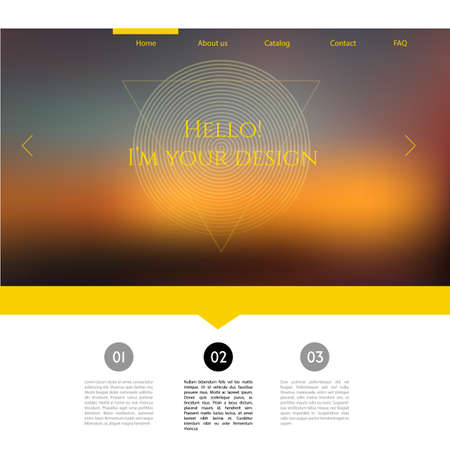 Vector illustration (eps 10) of Blurred web design template Vector