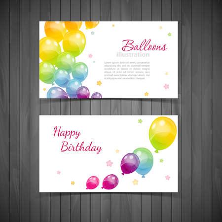 Illustration der Hintergrund mit bunten Luftballons Standard-Bild - 27247101
