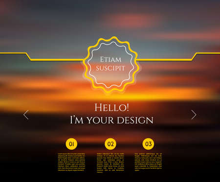 illustration of Blurred web design template Vector