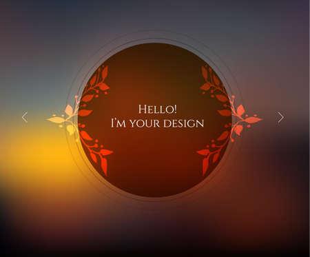 illustration of Blurred web design template Vector