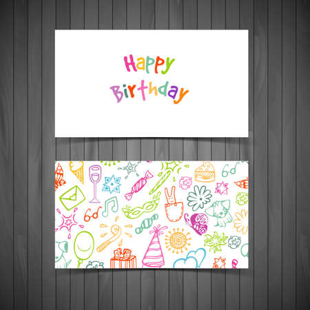 illustration of Happy birthday cards Vector