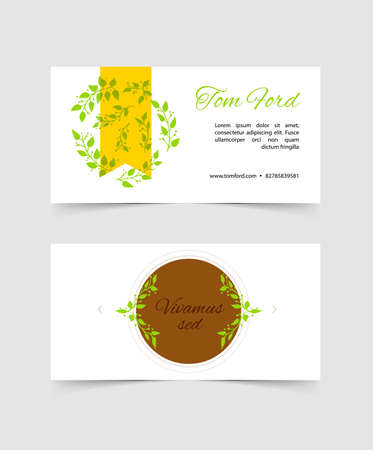 illustration of Design template cards Vector