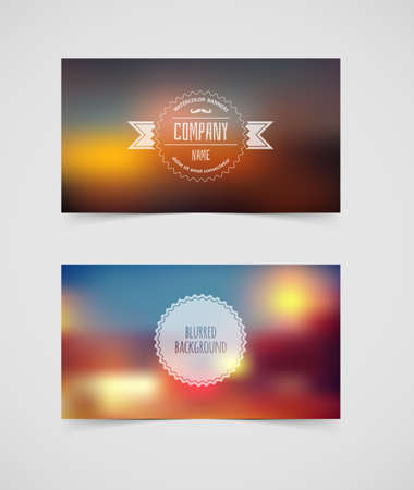 illustration of Blurred cards design template Vector