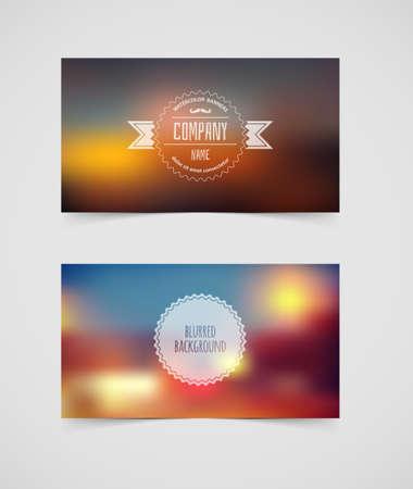 illustration of Blurred cards design template Vector