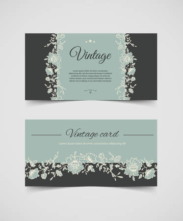 illustration of Vintage background cards Vector
