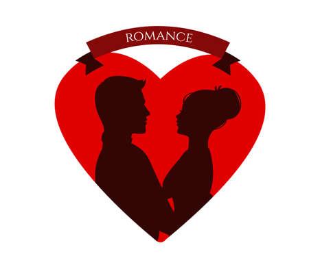 illustration of loving couple Vector