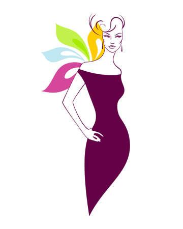 illustration of Beautiful woman Vector