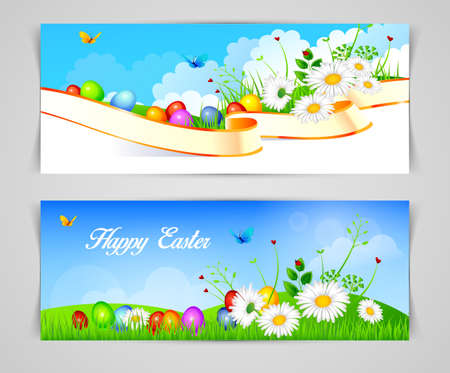 Vector illustration (eps 10) of Easter design template Vector