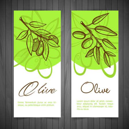 оливки: Векторные иллюстрации (EPS 10) из рук рисунок Елеонской