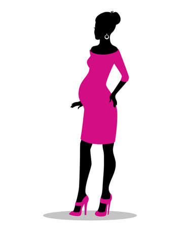 Vector illustration (eps 10) of Pregnant woman Vector