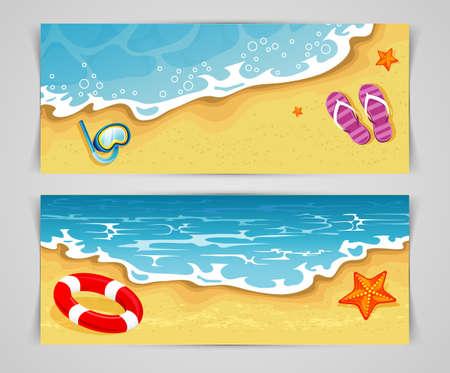 Vector illustration (eps 10) of Summer cards Illustration