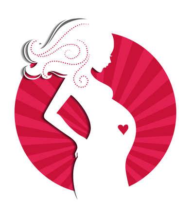 Vector illustration (eps 10) of Pregnant woman 일러스트