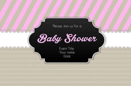 Illustration of Baby shower card Illustration