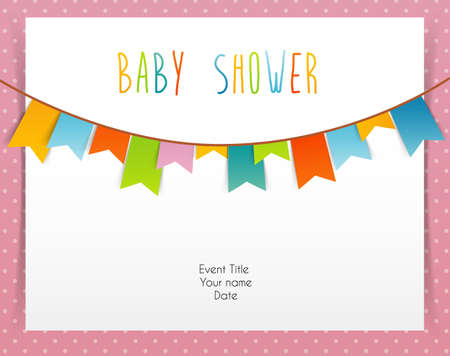 Illustration of Baby shower card Vector