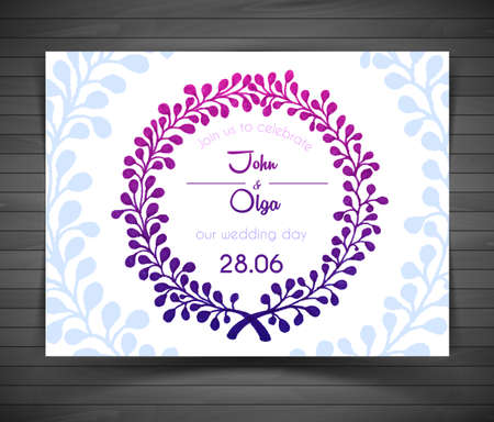 Illustration of Wedding card