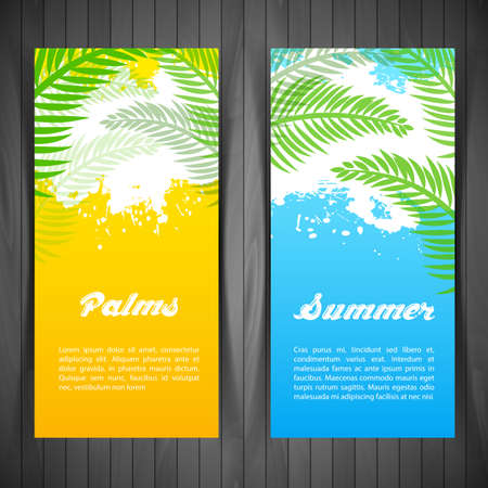 palm garden: Illustration of Palm silhouettes card