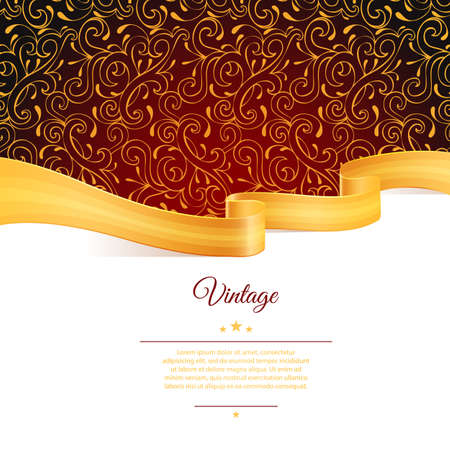 royal background: Illustration of Background with gold ribbon Illustration
