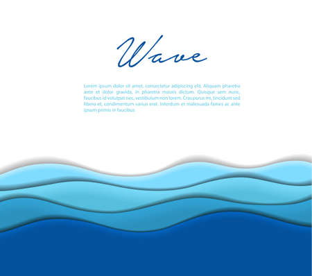 Illustration of Abstract waves background Çizim