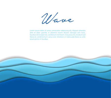 Ilustración de abstracta olas de fondo