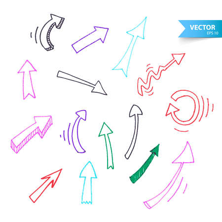 Vector illustration  of Arrows