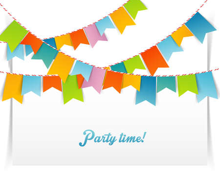 happy feast: Vector illustration  of Flags background Illustration