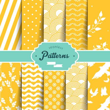 Vector illustration (eps 10) of Seamless patterns set