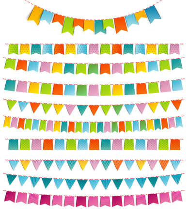 pennant bunting: Bunting party color flags