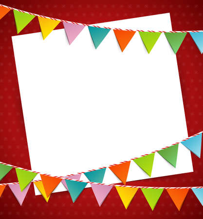 the pennant: Bunting party color flags