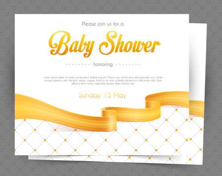 Ilustración del vector del bebé plantilla de tarjeta de ducha