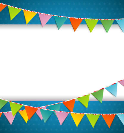 Vector illustration of Bunting party color flags Vector Illustration