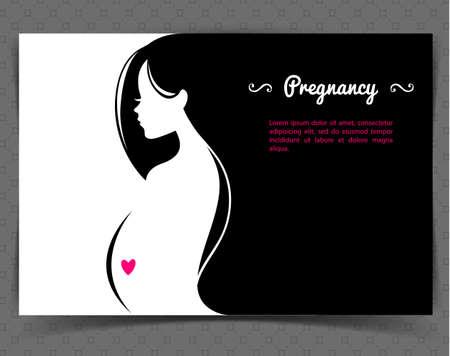 Vector ilustración de la mujer embarazada Foto de archivo - 32257075