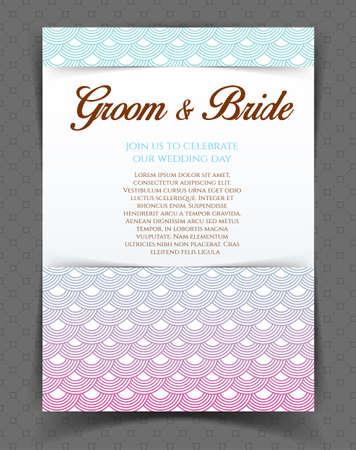 Vector illustration of Wedding invitation Vector