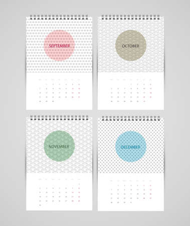 illustration of Calendar for 2015 Vector