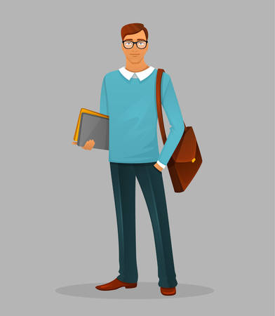 man: illustration of Teacher man