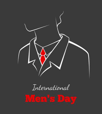 illustration of International mans day Vector