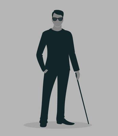 illustration of Blind man Vector