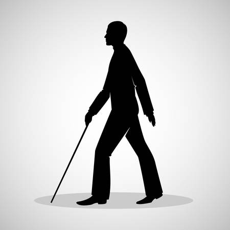 illustration of Blind man