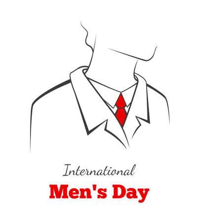 Vector illustration of International mans day card Vector