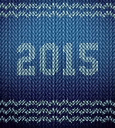stockinet: Vector illustration of Knitted texture 2015 background