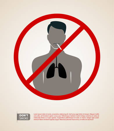 Vector illustration of Silhouette man with cigarette Vector