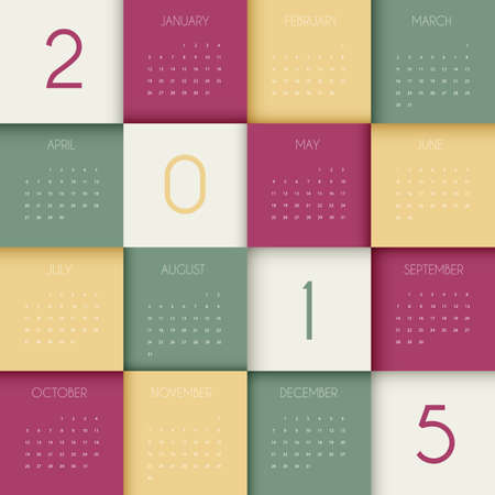 Vector illustration of Calendar for 2015 year Vector